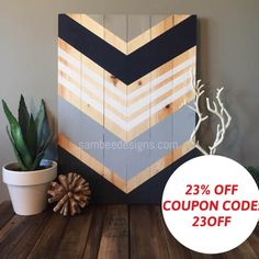 Hi! Thanks for stopping by if youre visiting from Pinterest!! Please join me on instagram at SamBeeDesigns for fun giveaways and a look into my process  23k followers and counting ❤   DIMENSIONS: This stylish and chic large wood wall art piece is 21x29 and comes with heavy duty hanging hardware on the back. HOW ITS MADE: I hand pick beautiful golden pine wood for this large wood wall art sign. I like to use pine wood that has an interesting wood grain and a beautiful blondish gold co...