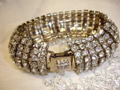 Vintage Crystal Rhinestone 7 Row Stunning Holiday  by VerdePalace, $38.00