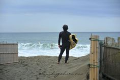 Chigasaki beach, and old men surfers.