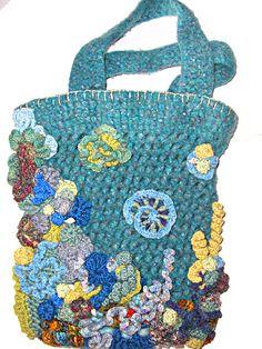 Free form crochet bag