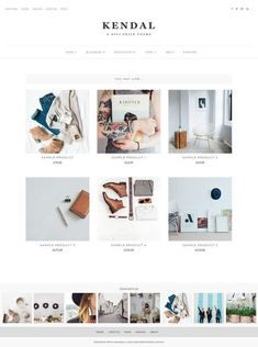 Looking for a beautiful, feminine Wordpress theme? Kendal is a great option for a minimalist, chic design. Web Design Websites, Online Web Design, Web Design Quotes, Web Design Agency, Web Design Trends, Web Design Tutorials, Web Design Company, Web Design Inspiration, Custom Website Design