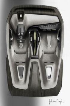 Peugeot Onyx Concept Interior Design Sketch