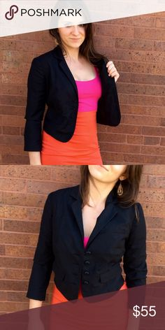 URBAN OUTFITTERS BLAZER Black blazer with buttons down the middle. Great condition. Slightly cropped. Fits true to size, small. NO TRADES, OFFERS WELCOME! Body chain available in my closet WILDHART 💗 Urban Outfitters Jackets & Coats Blazers