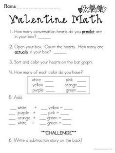 VALENTINE'S DAY BUNDLE {MATH, WRITING, AND A PARENT CARD CRAFT}
