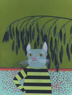 """New Print! """"Leery"""", 12x16"""" by Jennifer Davis via Light Grey Art Lab"""