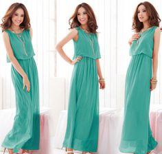Vestido longo, simples e leve