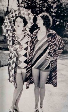 Bathing suits designed by Delaunay, c1920s. | Sonia Delaunay: the avant-garde queen of loud, wearable art