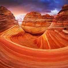 the wave rock formation | Kolob Canyons, Buckskin Gulch