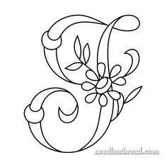 Monograms for Hand Embroidery – I, J Daisy & Rings – Needle'nThread.com