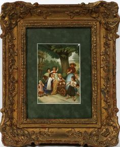 KPM HAND PAINTED PORCELAIN PLAQUE, CHILDREN : Lot 52045