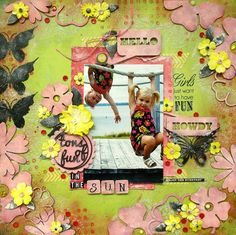 a cute kids layout by Nicole Doiron