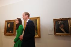 Catherine, Duchess of Cambridge and Prince William, Duke of Cambridge visit the National Portrait Gallery on April 24, 2014 in Canberra, Australia.