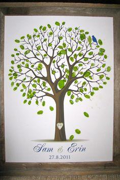 Fingerprint Tree-end of year teacher gift from class