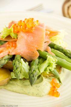 Salmon & Asparagus Salad – Σαλάτα με Σολομό & Σπαράγγια