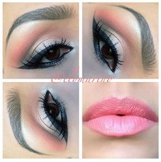 I couldn't pull this off but so pretty! silver & pink makeup