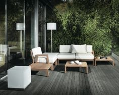 planter des bambous terrasse moderne