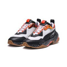 Image 1 of Thunder Electric Sneakers, White-Black-Mandarine Red, medium Mcqueen, Running Silhouette, Baskets, Puma Basket, Dad Shoes, Dad Sneakers, Sneaker Magazine, Textiles, Pumas Shoes