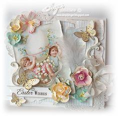 Vintage Inger Harding Handmade Easter Card