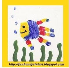 Fun fish handprint crafts and more!