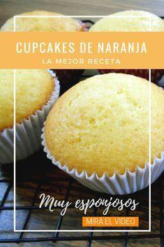 Cómo hacer los más ricos cupcakes de naranja ¡Esponjosos y deliciosos!
