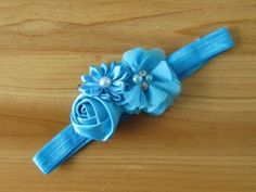Blue Baby Kid Girl Toddler Hairband Bow Flower Headband Hair Accessories b33 #unbranded