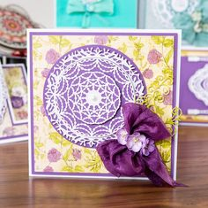 Gorgeous #floral and bow embellished card sample from the brand new @tatteredlaceuk, Eleganza Die Collection. Coming to your screens this Thursday at 10AM, on Create & #Craft! See now: http://www.createandcraft.tv/Tattered_Lace_The_Eleganza_Die_Collectio-339705.aspx?fh_location=//CreateAndCraft/en_GB/$s=eleganza