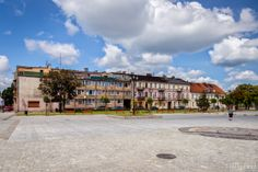 Tenement houses on the Old Market Square in Wloclawek, Poland