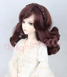 "9-10"" BJD Hair SD 1/3 doll curly wig Super Dollfie brown DOD AOD DK DZ Luts AF #AFH #ClothingAccessories"