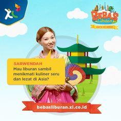 @sarwendah29 akan menjadi captain, buat kamu yang mau LIBURAN GRATIS ke benua Asia! http://bebasliburan.xl.co.id