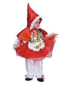 Red Riding Hood Dress-Up Set - Girls by Dress Up America #zulily #zulilyfinds