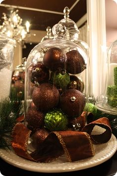 Ornaments! (everyone knows how much I love brown!  reminds me of chocolate!!)