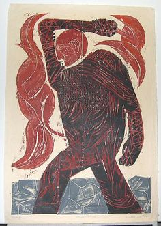 William Wolff    Prometheus Walking        print      work on paper    1990        color      print    35 in HIGH x 24 in WIDE  OMCA COLLECTIONS