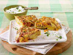 Bunte Tortilla mit Kräuterquark