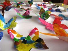 Kelebek Sanat Etkinliği | MiniMiniyiz Origami Butterfly Easy, Creative Crafts, Creativity