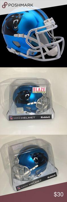 Carolina Panthers Riddell Blaze Mini Helmet Riddell Carolina Panthers NFL blaze revolution speed mini football helmet. Brand New in box. Perfect condition!! Accessories