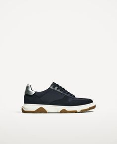 Image 1 of BLUE SNEAKERS WITH WHITE AND CARAMEL SOLE from Zara