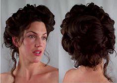 How to GIBSON girl Hair EDWARDIAN/ VICTORIAN vintage RETRO Hairstyle tutorial - Vintagious