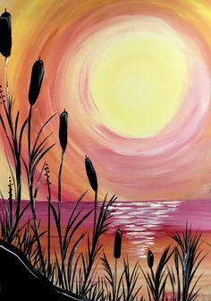 Beach Sunset ll at Cheshire Crab - Paint Nite Events near Pasadena, MD>