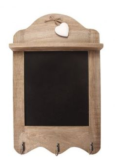 Scalloped Blackboard with Hooks