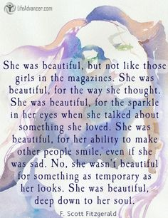 She was beautiful but not like those girls in the magazines #quotes | via @lifeadvancer