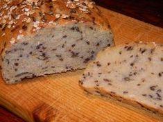 Chléb se lněným semínkem a ovesnými vločkami Bread Recipes, Banana Bread, Food And Drink, Basket, Diet, Bakery Recipes