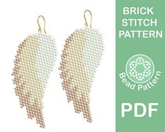 Brick stitch patterns by BeadPattern Beaded Earrings Patterns, Seed Bead Patterns, Beading Patterns, Stitch Patterns, Bead Earrings, Bracelet Patterns, Bead Jewelry, Feather Earrings, Embroidery Patterns