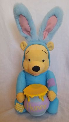 "Winnie The Pooh Talking Funny Hunny Pooh Bunny Easter 18"" Plush Toy By Applause #Applause"