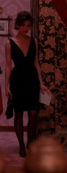 Audrey Horne dress at One Eyed Jack job itw More