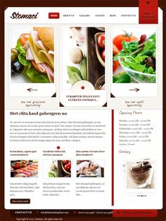 Modern style #restaurant premium #WordPress theme