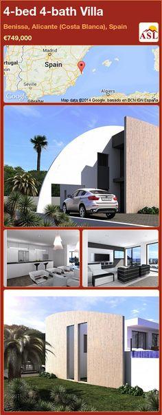 4-bed 4-bath Villa in Benissa, Alicante (Costa Blanca), Spain ►€749,000 #PropertyForSaleInSpain