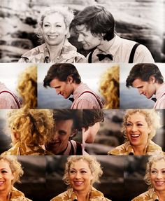"""River and the Doctor - I love the way he circles her in this scene. He's like """"Yeah, I know what's up. Psh, I'm the Doctor....I'm cool."""" And River just laughs like """"Oh you silly boy, you have NOOO idea wtf is going on...but I do like the bow tie."""""""