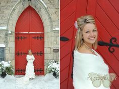 Winter Wedding Dress. Guelph Wedding Photography. www.ashleyreneephotography.com