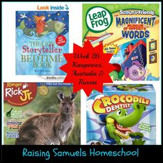 Raising Samuels Homeschool: Week 26: Kangaroos, Australia and Russia (Homeschool Kindergarten and Preschool Learning)