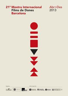 Mostra Internacional Films de Dones 2013 International Women's Film Festival of Barcelona. Produced by Drac Màgic. Codesign by Andreu. Graphic Design Posters, Graphic Design Illustration, Graphic Design Inspiration, Festival Logo, Festival Posters, Film Festival, Tool Design, Flyer Design, Design Art